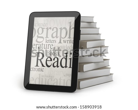 E-books concept illustration - stock photo