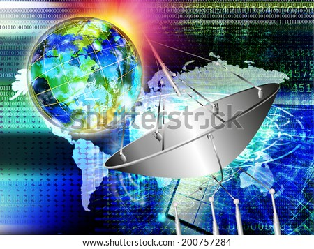 E-Business.Connect.Technology - stock photo
