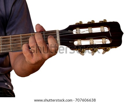 C Chord On Acoustic Guitar Stock Photo 707530438 Shutterstock