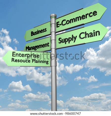 E-Commerce and Business Directional Sign
