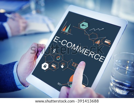 E-commerce Global Business Digital Marketing Concept - stock photo