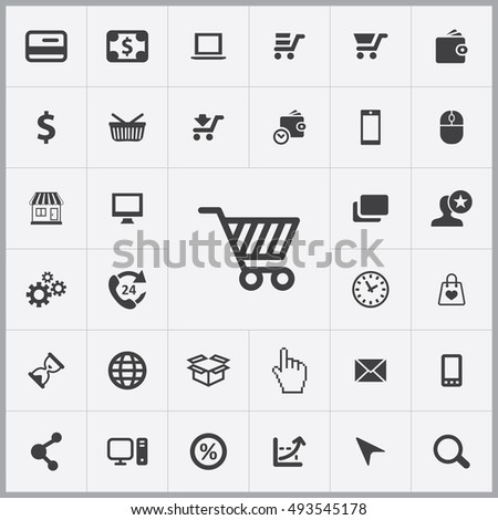 e-commerce icons universal set for web and mobile