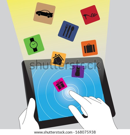 E commerce on tablet pc