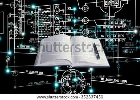 E-designing engineering technology. - stock photo