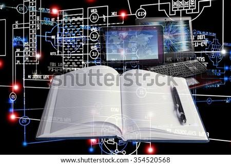 E-education computer engineering technology. - stock photo