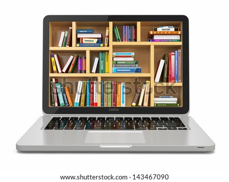 E-learning education or internet library. Conceptual image - stock photo