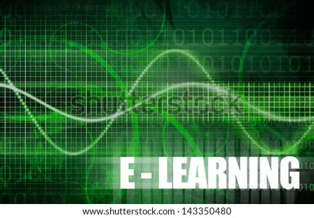 E-Learning or Electronic Learning Online as Art - stock photo
