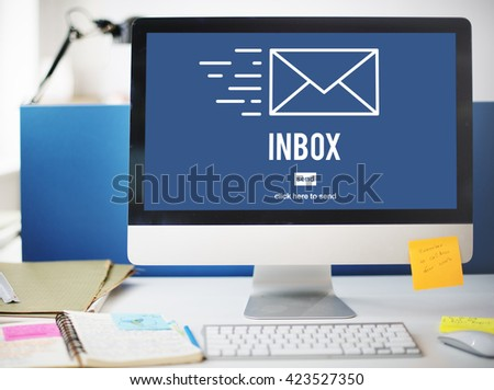 E-mail Correspondence Envelope Message Inbox Concept - stock photo