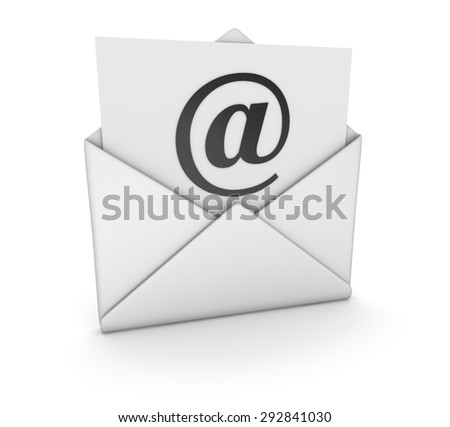 E-Mail , 3d computer generated image.