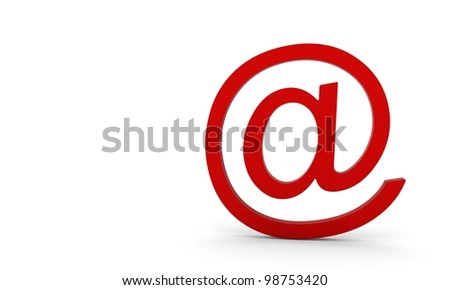 E-mail icon. 3d render. isolated on a white background - stock photo