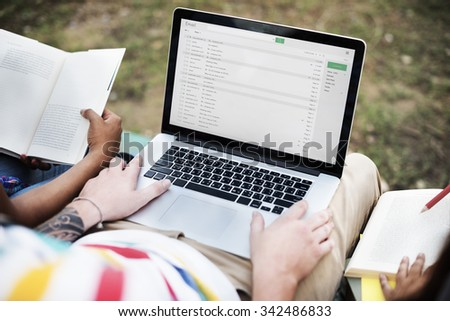 E-Mail Laptop Global Communications Connection Technology Concept
