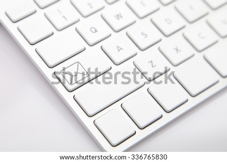 E-mail on the Computer Keyboard - stock photo
