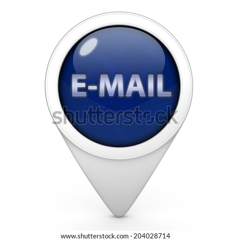 E-mail pointer icon on white background