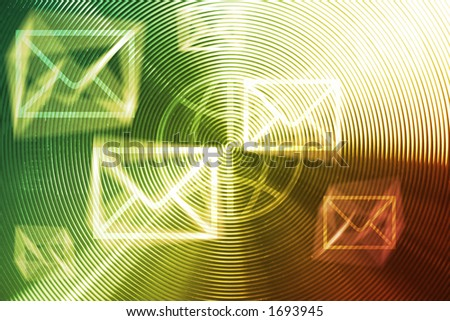 E-mails / mails invasions - conceptual background for junk mail, spam, connection, etc - stock photo
