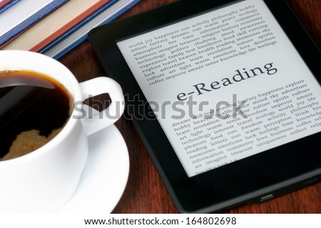 e-Reading - stock photo