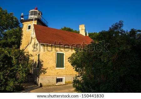 Eagle Bluff Lighthouse - stock photo