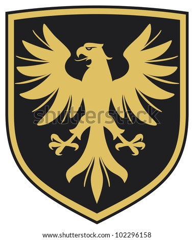 eagle (eagle coat of arms, eagle emblem) - stock photo