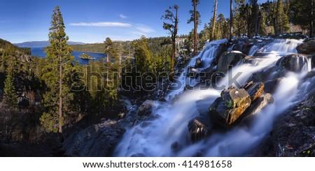 Eagle Falls and Emerald Bay Lake Tahoe, California - stock photo