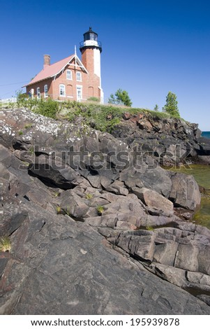 Eagle Harbor Lighthouse - stock photo