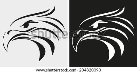 Eagle head icon  - stock photo