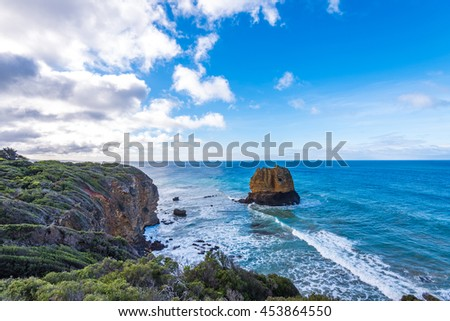 Eagle Rock at Aireys Inlet on the Great Ocean Road - stock photo