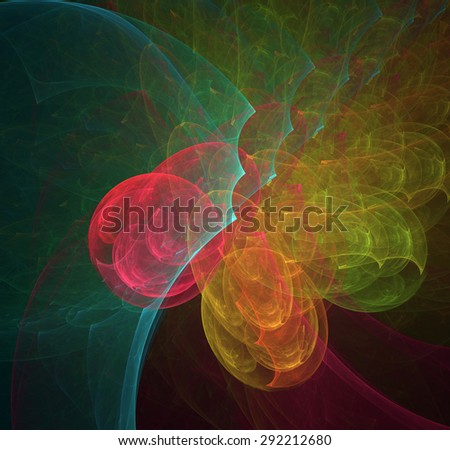 Eagle's Nest abstract illustration - stock photo