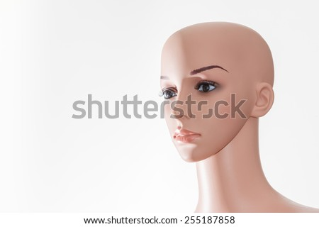 Ealistic mannequin head isolated on white - stock photo
