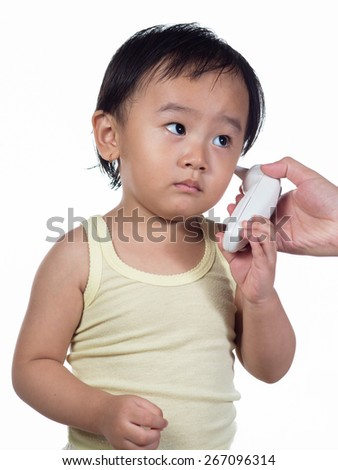 Ear digital thermometer - stock photo