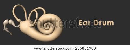 Ear drum - stock photo