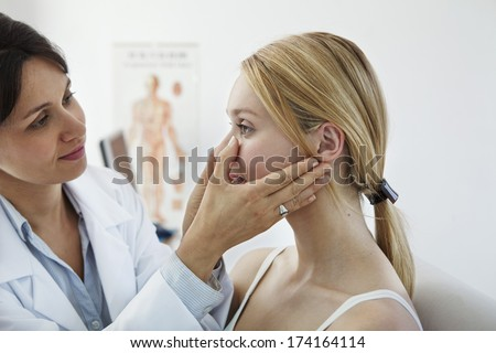 Ear Nose & Throat, Woman - stock photo
