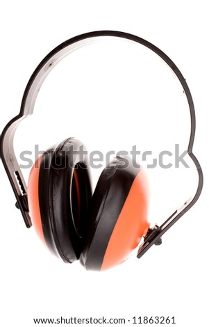 Ear protectors isolated over white
