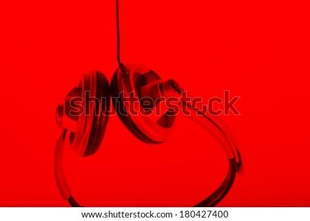 Ear speakers, headphones,dj set  - stock photo