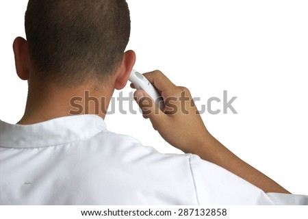 ear thermometer - stock photo