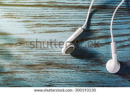 Earbud Headphones - stock photo