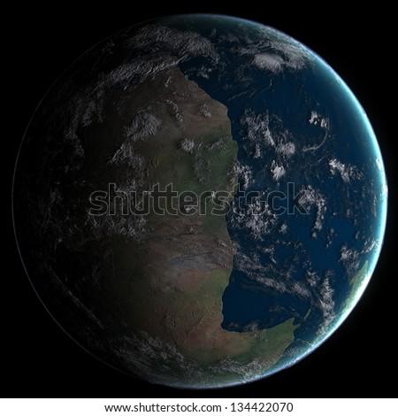 Early Jurassic Earth - stock photo