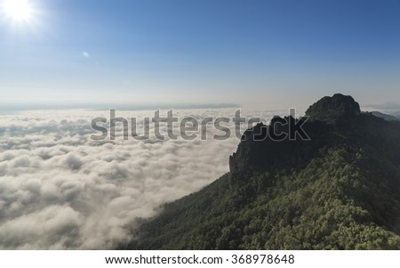 Early morning event in Chiang mai Thailand - stock photo