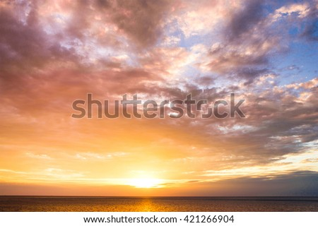 Early Morning Idyllic Paradise  - stock photo