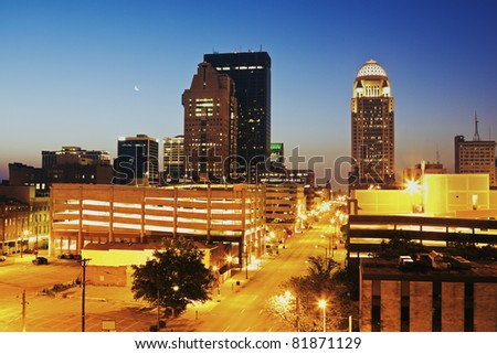 Early Morning in Louisville, Kentucky - stock photo