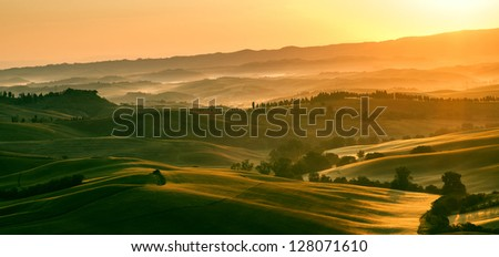 Early morning light in the Tuscany region of Italy