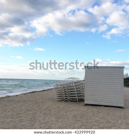 Early morning miami beach - stock photo