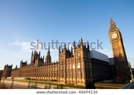 Early morning shot of the Houses of Parliament