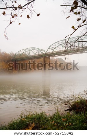 Early morning sunrise over river - stock photo