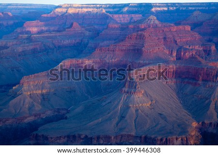 Early Morning sunrise over the Grand Canyon,
