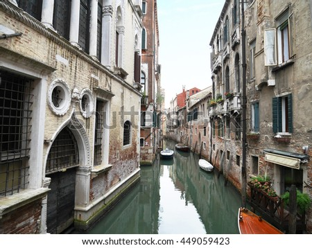 Early morning walk along the Canals in Venice,Italy.