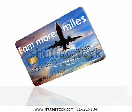 Earn more air miles credit card with plane and sky background