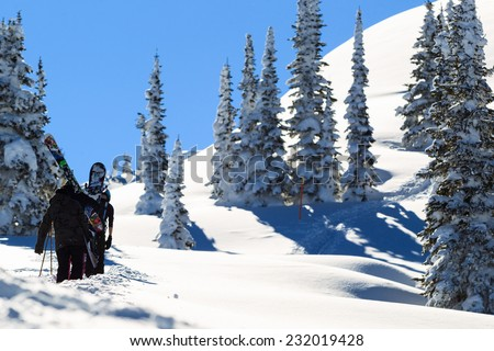 earn your turns - stock photo