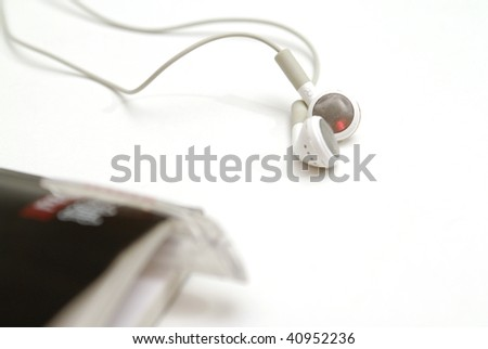 earphone on white background