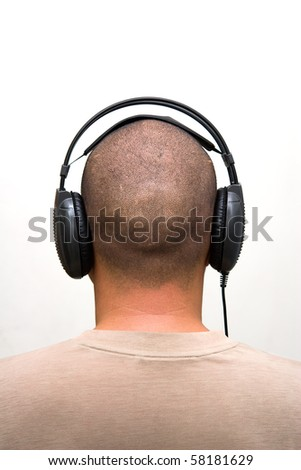 Earphones - stock photo