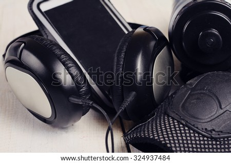Earphones , mobile phone,  Cycling Roller Skating Knee Elbow Wrist Protective Pads.