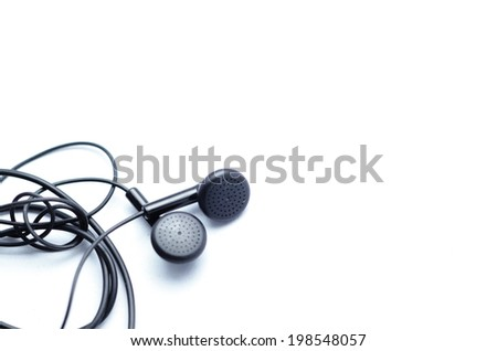 Earphones   on a white background